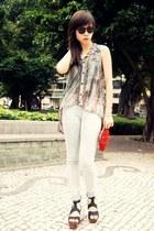 H&M jeans - vintage purse - Topshop clogs - Topshop vest - Topshop ring