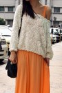 Black-jeffrey-campbell-shoes-orange-h-m-dress-white-american-apparel-blouse-