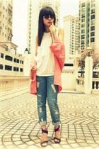 Zara blazer - H&M jeans - Zara blouse - Zara sandals