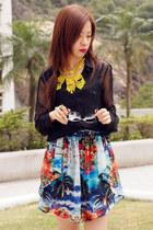Zara skirt - Zara shirt - Zara necklace