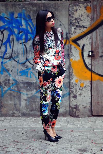 Zara shirt - H&M pants - Zara heels