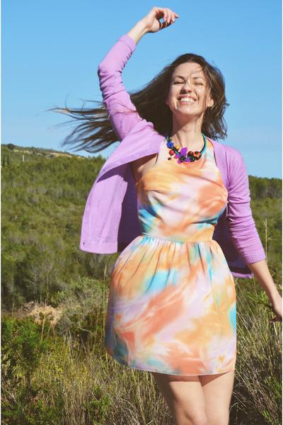sky blue Love dress - light purple Marc Jacobs cardigan