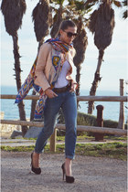 blue H&M jeans - light pink Love blazer