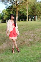 ASOS babydoll cut-out dress dress - new look bag - Dorothy Perkins cape