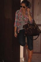 H&M shirt - balenciaga purse - millano shoes