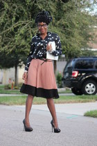 Forever 21 skirt - Forever 21 blouse - just fab pumps