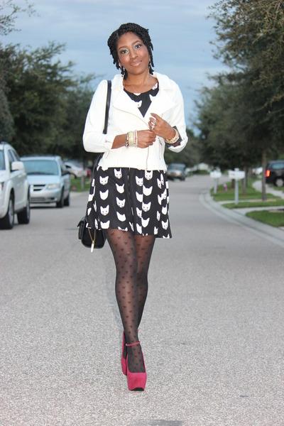 cotton H&M dress - cotton H&M jacket