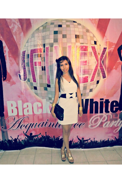 Acquaintance Party Dress Black And White 27