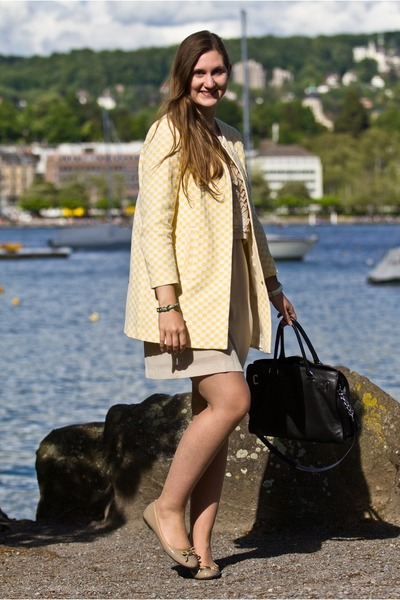 Zara coat - anaalcazar dress - Michael Kors bag