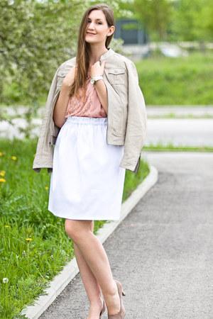 Fornarina dress - Barneys jacket - DIY skirt