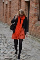 Zara scarf - Chanel bag - Zara skirt