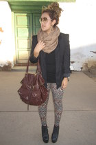 Necessary Clothing Soho NY leggings - Jeffrey Campbell boots - Arden B blazer