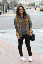 foreign exchange vest - Old Navy sweater - Forever 21 leggings