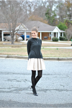 black New York & Co sweater - eggshell Taylor dress