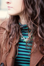 Brown-pea-old-navy-coat-turquoise-blue-j-crew-top