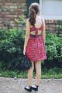 Brick-red-bird-motif-judith-march-dress-black-from-target-6-mossimo-purse