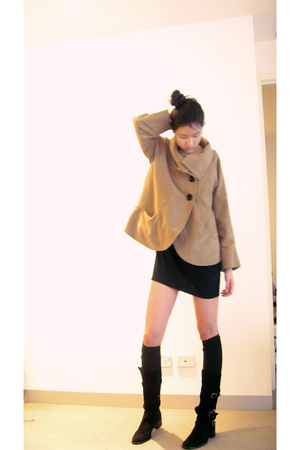 Zara coat - Cheap Monday dress - Sportsgirl socks - Midas