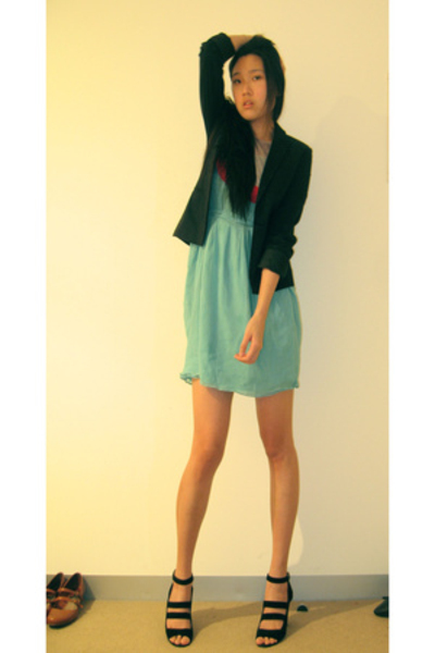 vintage blazer - Kinki Gerlinki dress - Urban Soul shoes