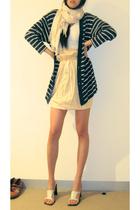 vintage - skirt - Country Road scarf - American Apparel top
