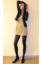 jacket - American Apparel dress - Gucci belt - Newkid shoes