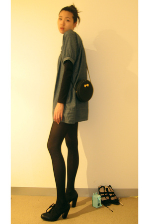 Natalia dress - Witchery top - Wolford tights - Wittner shoes - Nina Ricci purse