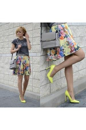 yellow handmade skirt - silver reserved bag