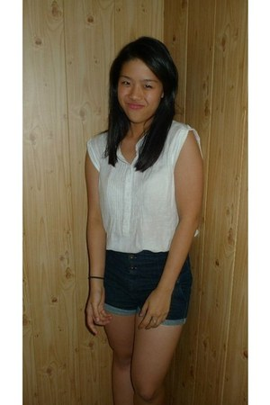 Topshop blouse - Topshop shorts