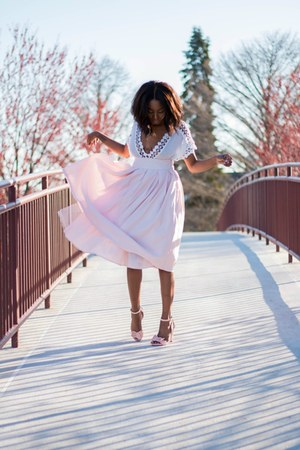 Forever 21 skirt - Valentino heels