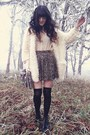 Black-sammy-dress-boots-ivory-banggood-sweater-brown-super-lovers-skirt