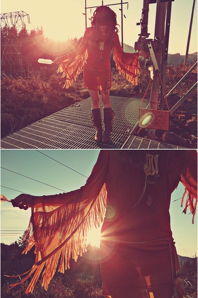 tawny Swell dress - brown Forever 21 boots - Minx Shop necklace