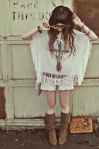 Urban Outfitters shirt - Forever 21 boots - Forever 21 shorts - H&M necklace