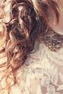 Periwinkle-forever-21-bracelet-eggshell-guess-socks-eggshell-chicwish-blouse