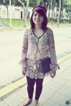 floral chiffon dress - black Genevieve Gozum Philippines leggings