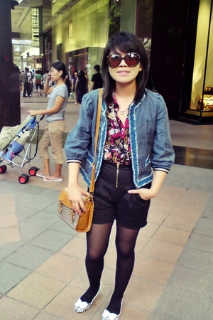 from The Salvation Army jacket - cotton on blouse - shorts - mondo shoes - - Cha
