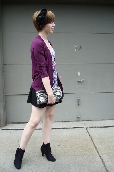 Express sweater - Express top - H&M skirt - Walmart boots - forever 21 accessori