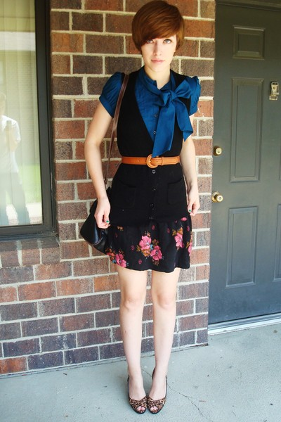 Express blouse - Express sweater - f21 skirt - Ebay shoes