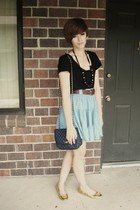 H&M skirt - Express t-shirt - loeffler randall for target shoes - thrifted purse