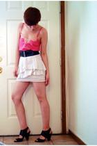 Express top - Zara skirt - f21 belt - Nine West shoes