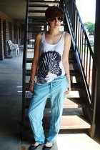 forever 21 t-shirt - thrifted pants - Steve Madden shoes - Wet Seal accessories