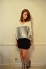 Forever-21-shorts-striped-express-top-steve-madden-wedges