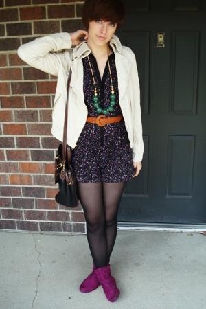 I heart ronson shorts - Express jacket - Bamboo boots - Target necklace