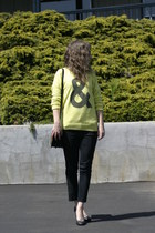 Forever 21 sweater - Marc by Marc Jacobs bag - Cheap Monday pants