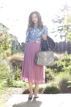 Crossroads Trading Co skirt - Ross jacket - vintage crossroads bag