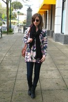 black Journeys boots - navy Just USA jeans - light pink H&M sweater - tawny cros