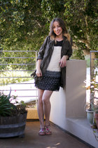 army green Wet Seal jacket - dark gray Target dress - magenta H&M sandals
