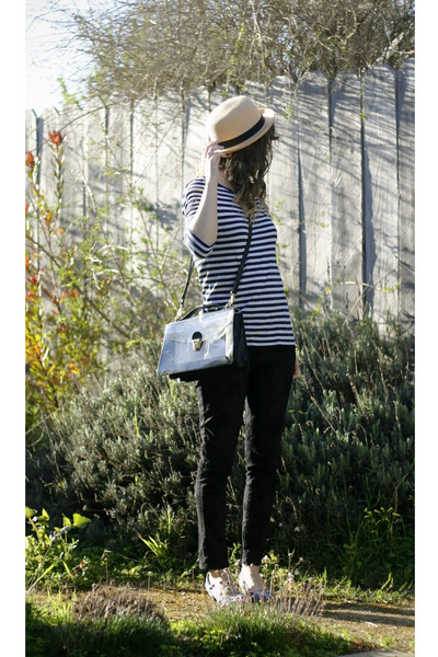 black Marc Jacobs bag - sky blue Forever 21 shoes - neutral Forever 21 hat