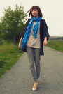 Gray-forever-21-cardigan-gray-wet-seal-jeans-blue-wet-seal-scarf-beige-sel