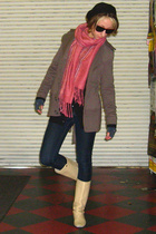 Forever 21 jacket - thrifted from Crossroads scarf - tresics sweater - got2be je