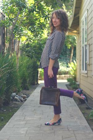 Tabio heels - JCrew jeans - sdgf bag - Comme des Garcons blouse