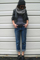 gray Urban Outfitters hat - gray Wet Seal jacket - white Forever 21 top - gray s